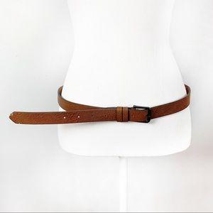 Zara Man Tan Leather & Silver Buckle Casual Belt